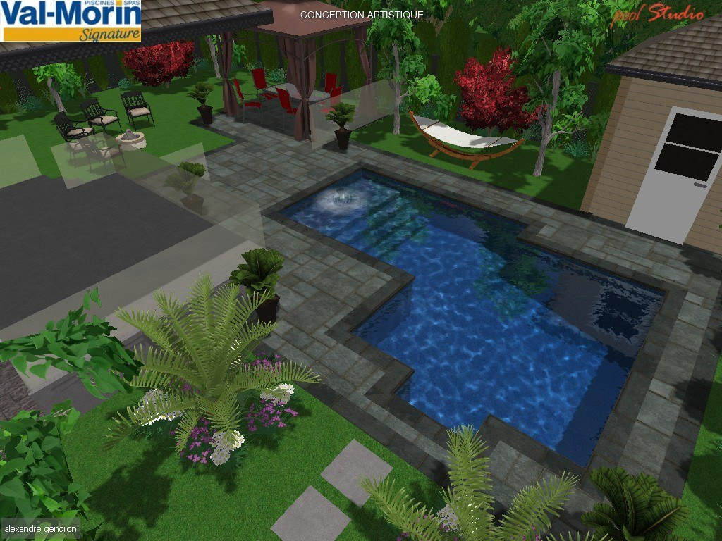 Am nagement plan d 39 am nagement piscines val morin signature - Plan piscine creusee ...